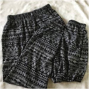 Tribal print joggers jogger pants
